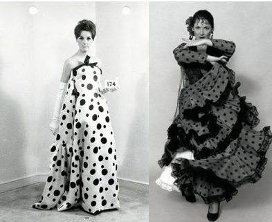 BALENCIAGA DRESS FROM 1964  & TRADITIONAL FLAMENCO DANCE UNIFORM
